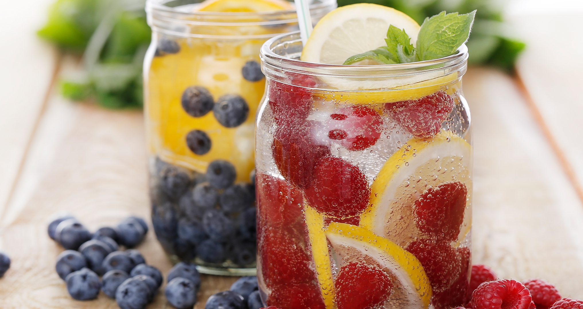 sparkling water with real fruit.