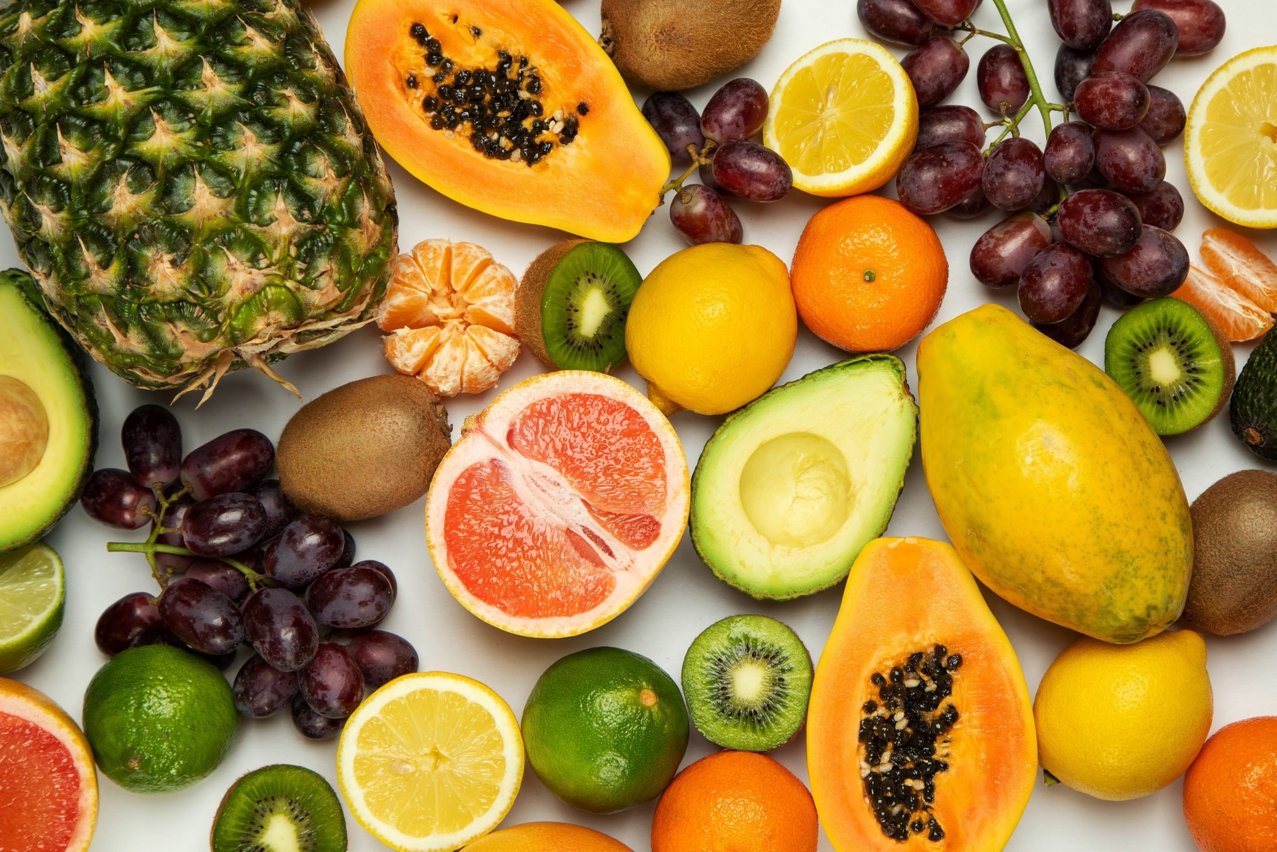 a lot of different fruits on table