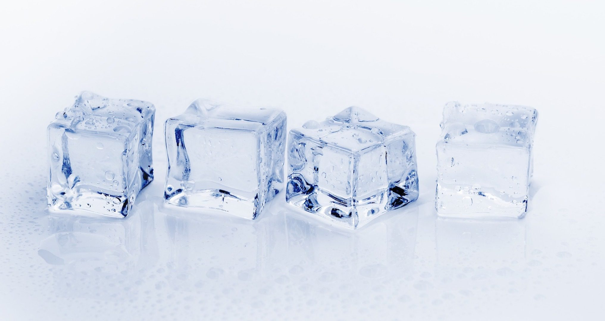 four ice cubes